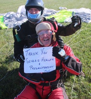 Ron Bormann after skydiving
